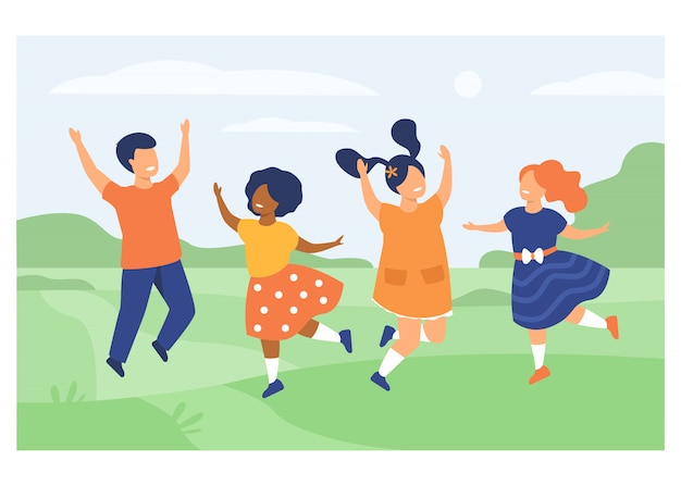Diversity and childhood concept Free Vector