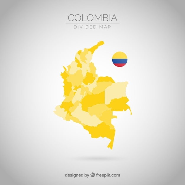 Divided map of columbia Free Vector
