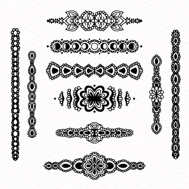 Divider collection hand drawn style Free Vector