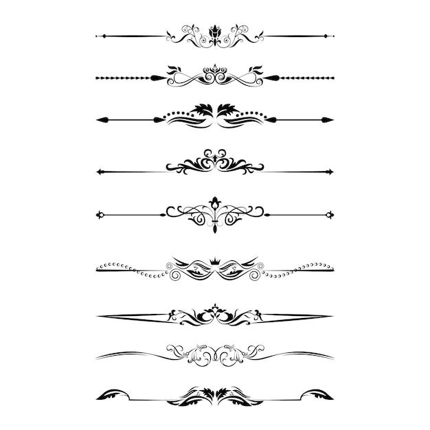 Divider ornamentation Premium Vector