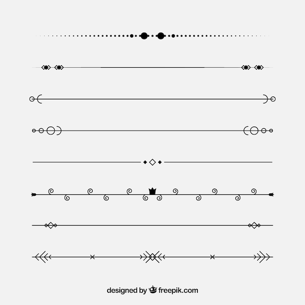 Dividers collection in vintage style Premium Vector