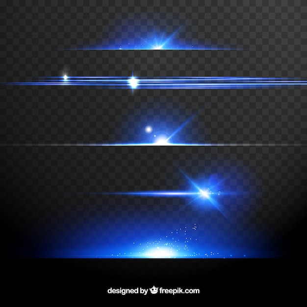 Dividers collection with light effect Free Vector