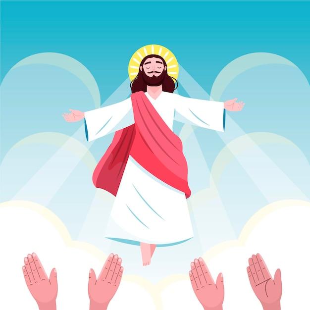Божественное вознесение четверг и последователи Бесплатные векторы