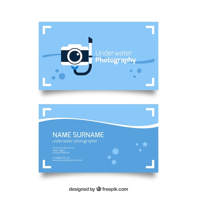 Diving camera business card vector free download diving camera business card free vector colourmoves Choice Image