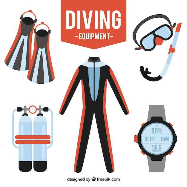 Diving equipment pack
