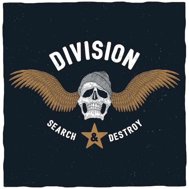 Division search and destroy poster Free Vector