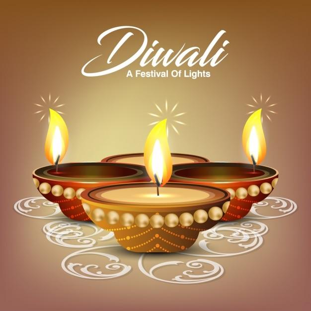 Diwali background design Free Vector