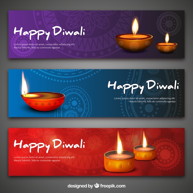 Diwali Banners Vector Free Download