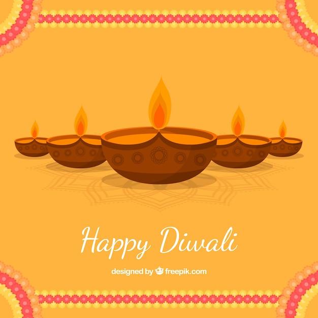 Diwali candle background