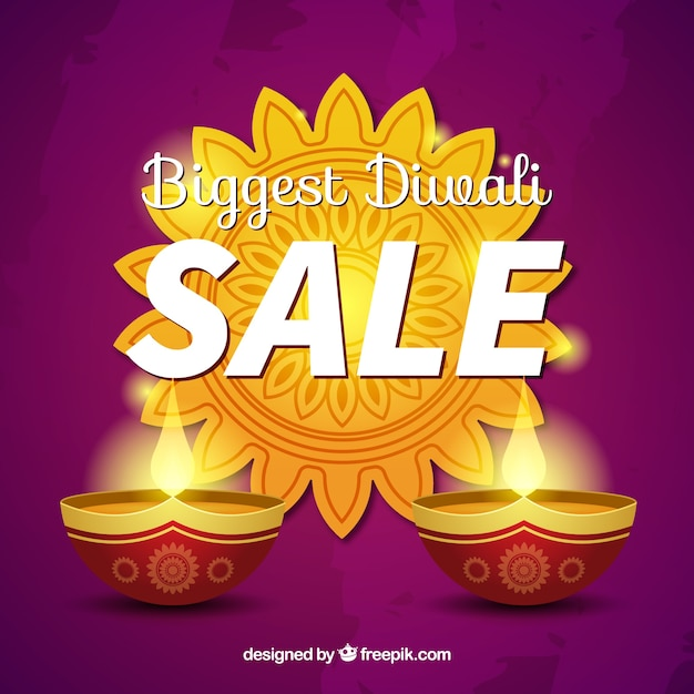 Diwali discount background