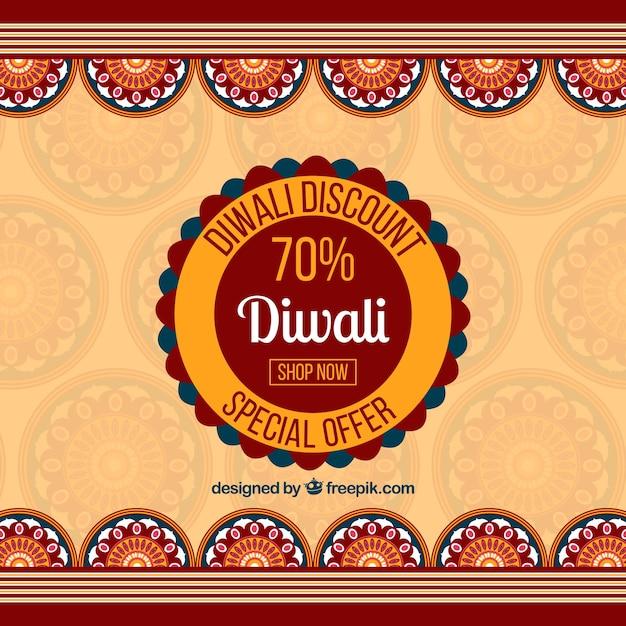 Diwali discount background Free Vector