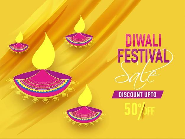 Diwali festival background. Premium Vector