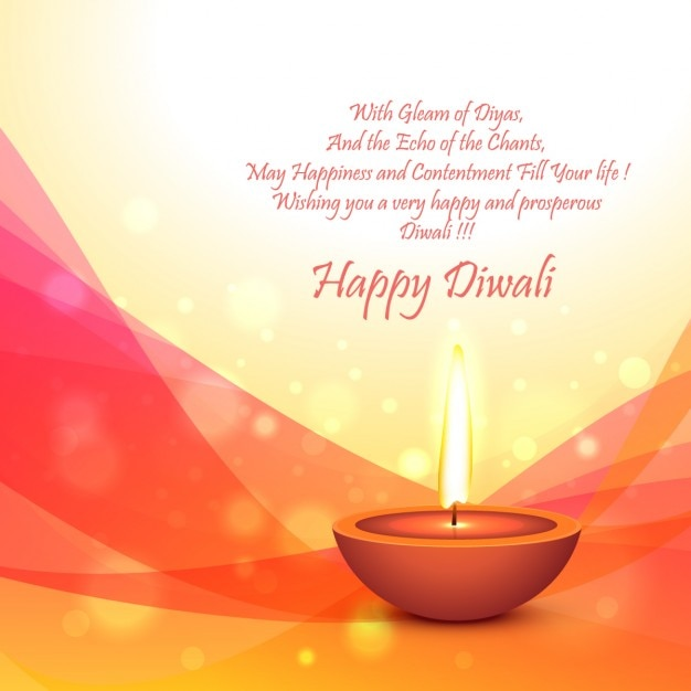 diwali festival card template free vector