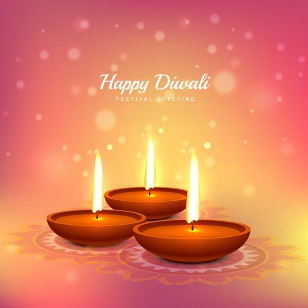 Diwali festival greeting Free Vector