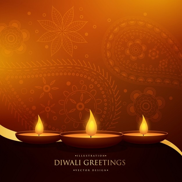 Diwali Wallpaper: Diwali Festival Ornamental Background Vector