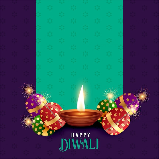 Diwali festival season background with text space Free Vector