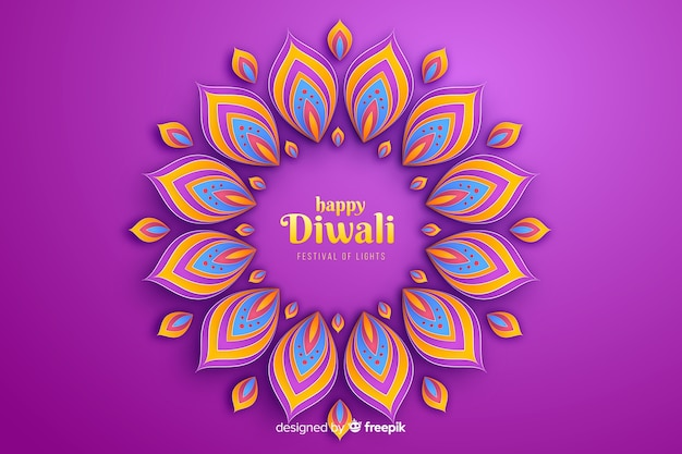 Diwali festive ornaments celebration background Free Vector