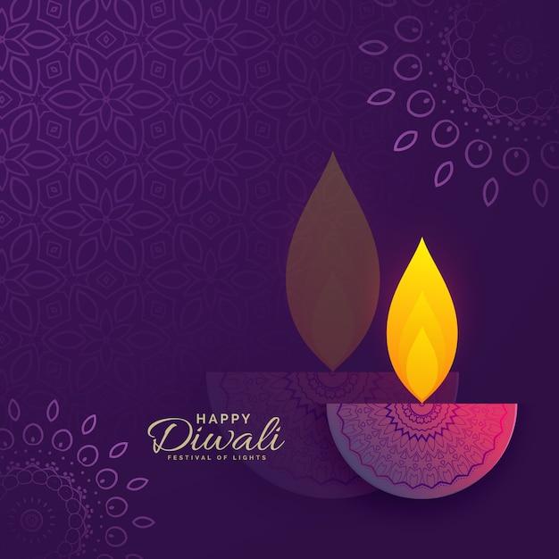Diwali greeting card design with creative diya and ornament diwali greeting card design with creative diya and ornament decoration premium vector m4hsunfo