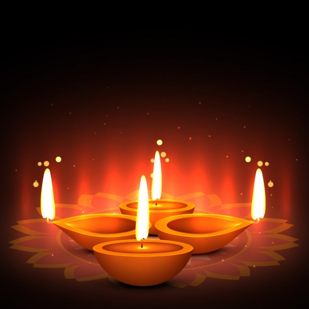 Diwali greeting with four candles vector free download diwali greeting with four candles free vector m4hsunfo
