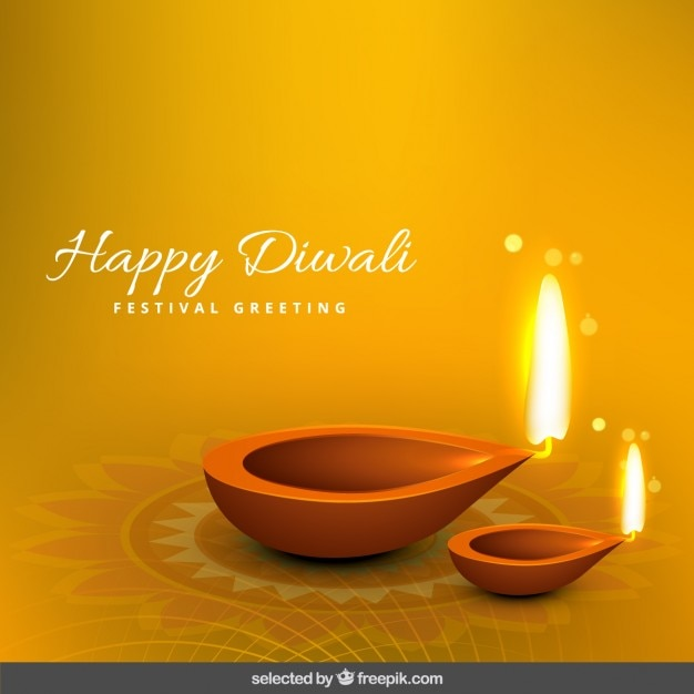 Diwali greeting with two flames vector free download diwali greeting with two flames free vector m4hsunfo