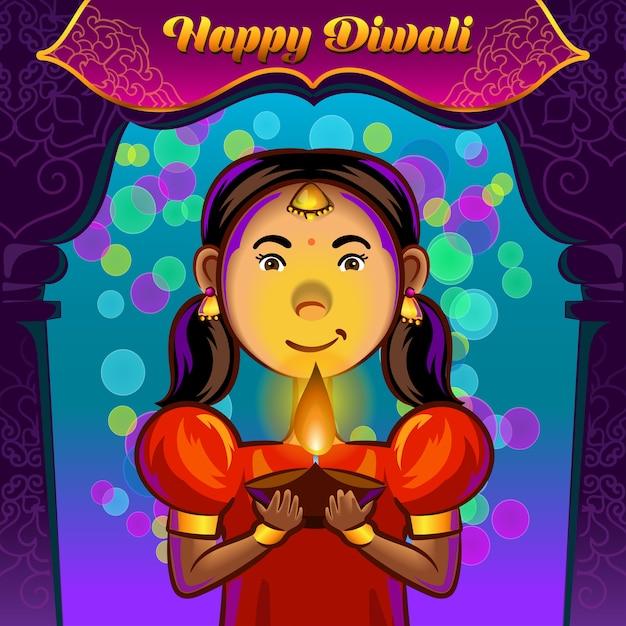 Diwali greetings Premium Vector