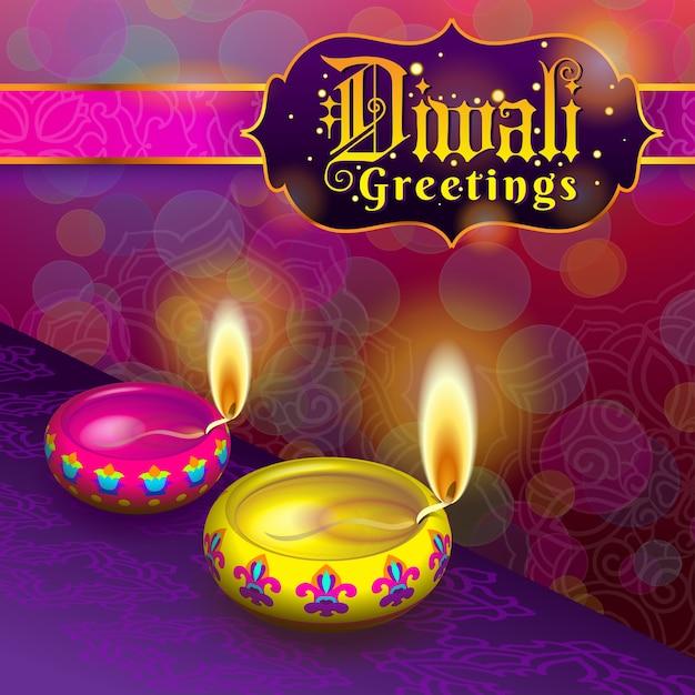Diwali Greetings Vector Premium Download