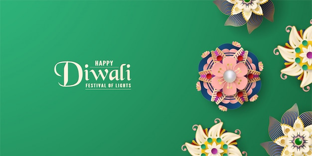 Diwali is festival of lights of hindu for invitation background. Premium Vector
