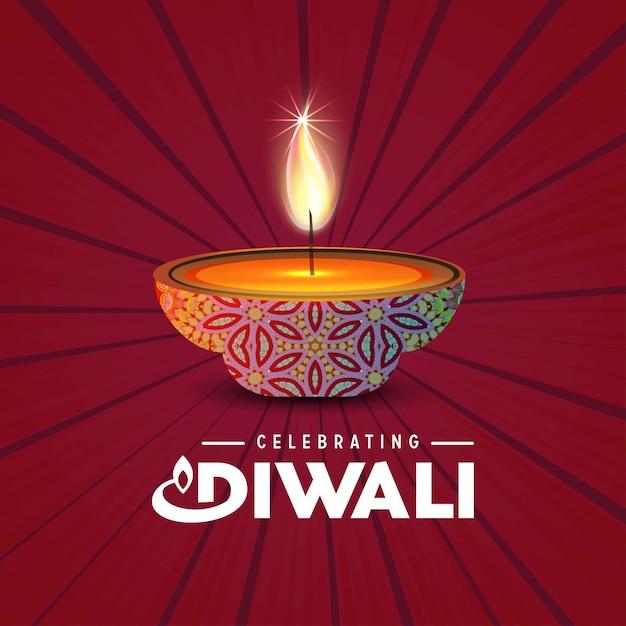 Diwali mandala background Free Vector