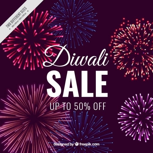 diwali sale background with fireworks vector free download rh freepik com Fireworks Clip Art Fireworks White Background