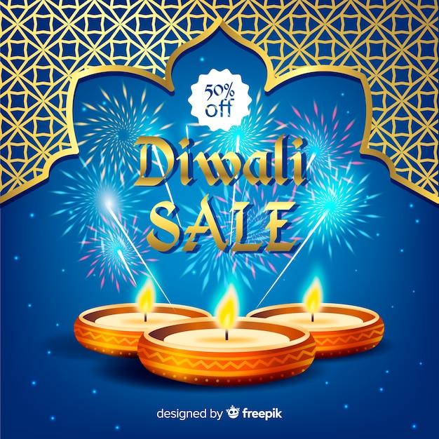 Diwali sale background Free Vector
