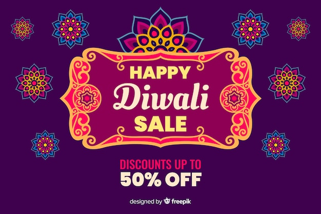 Diwali sale in flat design Free Vector