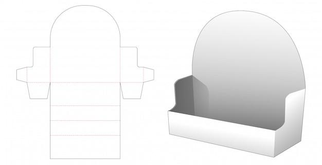 Diy corrugated product display die cut template Premium Vector