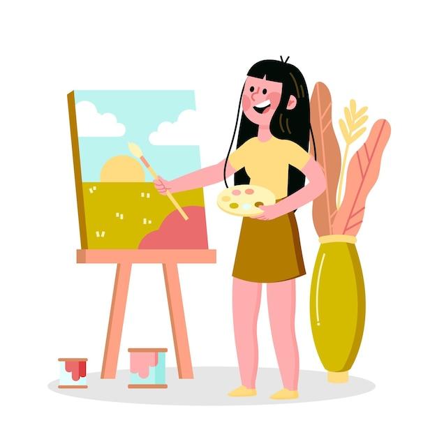 Diy creative workshop concept Free Vector