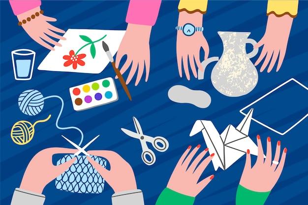 Concetto di laboratorio creativo fai da te Vettore gratuito