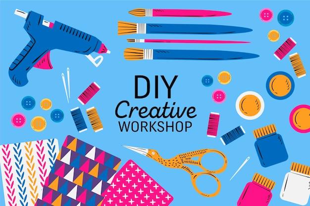 Workshop creativo fai da te Vettore gratuito