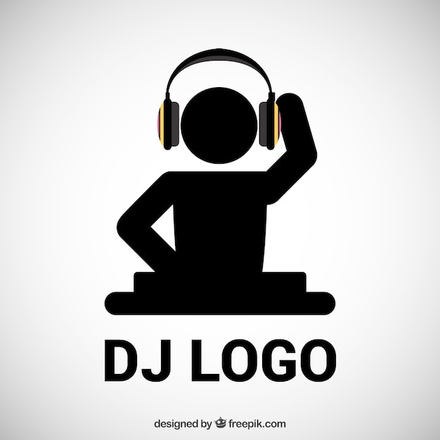 DJ logo Vector | Free Download
