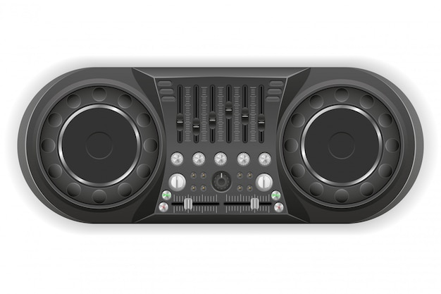 Dj panel console sound mixer vector illustration Premium Vector