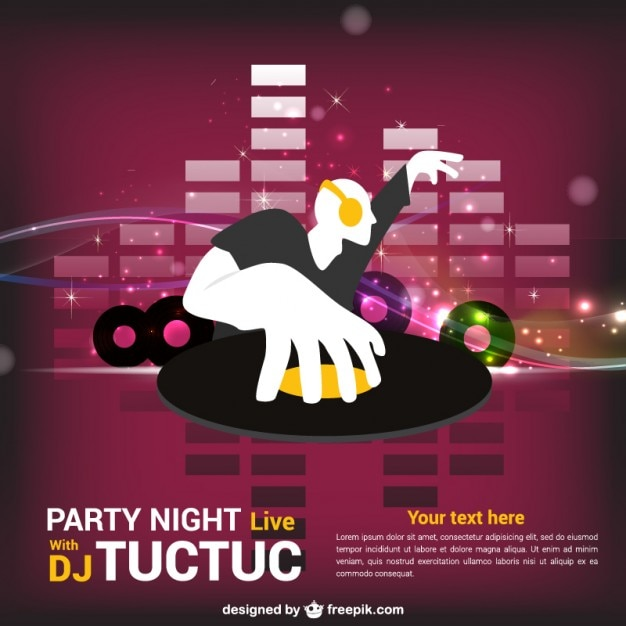 Dj Party Poster Vector Free Download