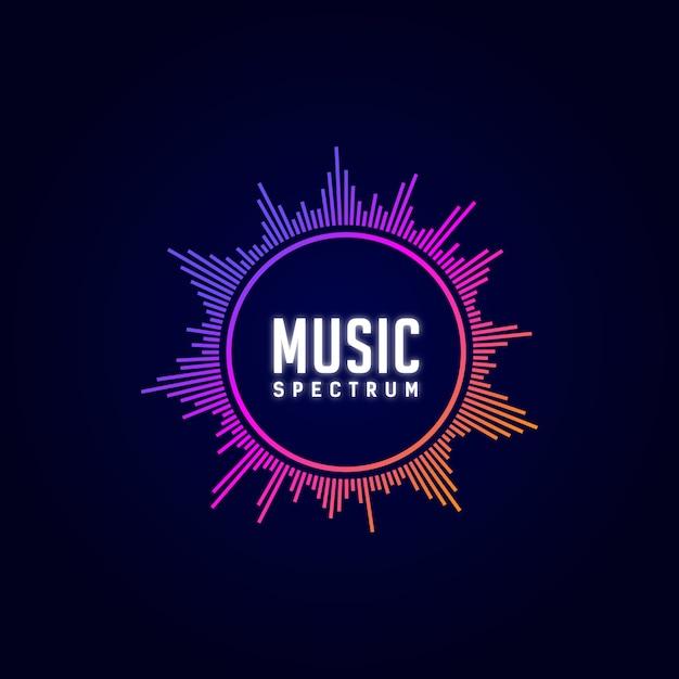 ロゴ音楽、イコライザー、dj、スペクトル、カラフル、 Premiumベクター