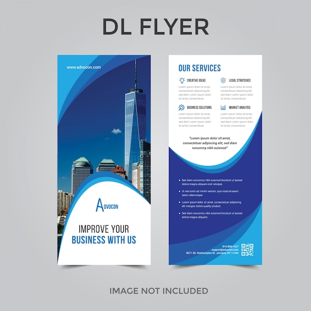 Dl flyer or rollup Premium Vector