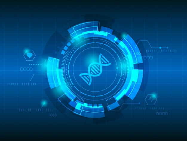 Dna abstract technology background Premium Vector