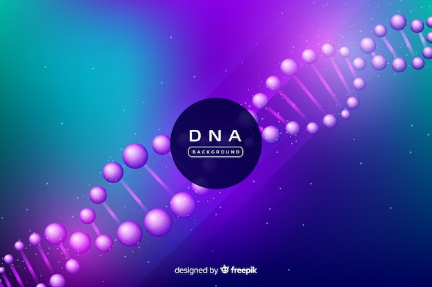 Dna background Free Vector
