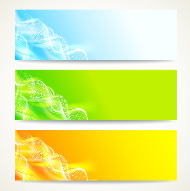 Dna banners set. Free Vector