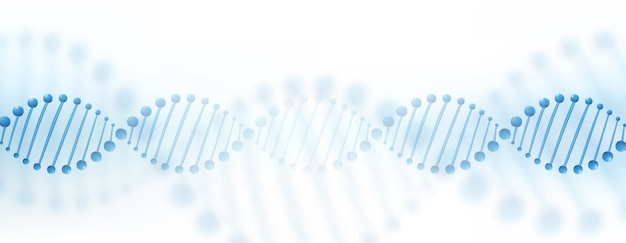 Dna染色体バナーの概念。 無料ベクター