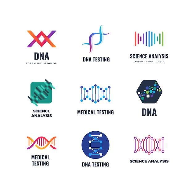 Dna code biotech science genetics logo  helix molecule