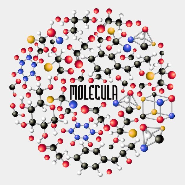 生物学、医学科学、分子研究のdnaコンセプト構成 Premiumベクター