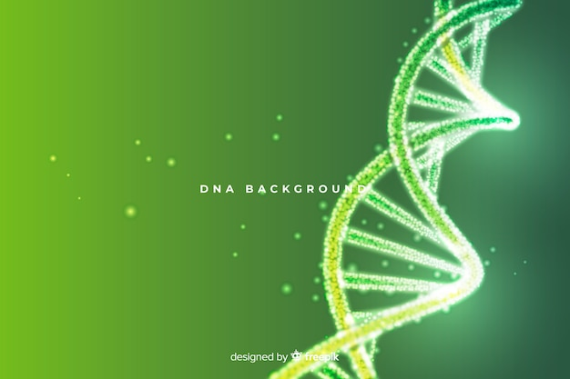 緑の抽象的なdna構造の背景 無料ベクター