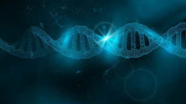 Dnaと科学の背景 Premiumベクター