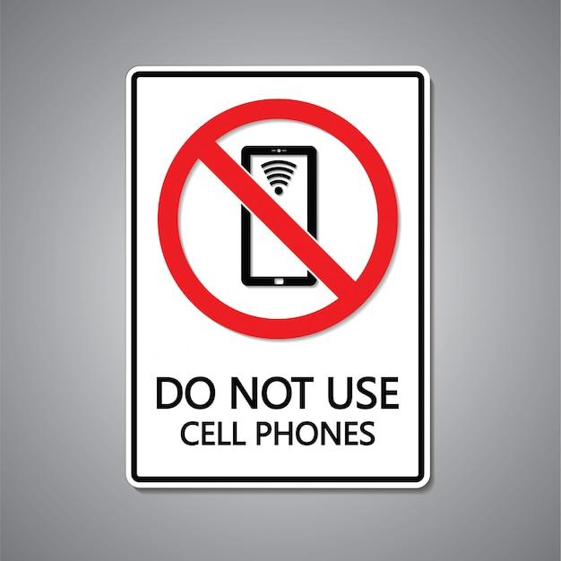 携帯電話のサインを使用しないでください Premiumベクター