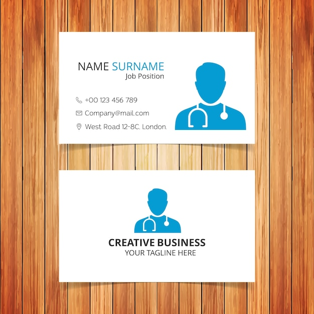 Doctor Business Card Free Vector